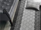 Cut to Fit Bath Rugs Custom Cut Hallway Runner Rug Slip Resistant 31 Inch Wide X Your Choice Of Length Checkered Anthracite 31 Inch X 15 Feet