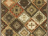 Dallas Cowboys area Rug 8×10 Rizzy Home Collection Wool area Rug 8 X 10 Multi orange Rust Tan Khaki Dark Brown Dark Gray southwest Tribal