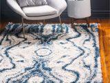 Dallas Cowboys area Rug 8×10 Unique Loom Valley Hygge Shag Modern Abstract area Rug or