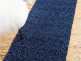 Dark Blue Fluffy Rug Bravich Rugmasters Navy Blue Runner Rug 5 Cm Thick Shag Pile soft Shaggy area Rugs Modern Carpet Living Room Bedroom Mats 60 X 230 Cm 23 X 80