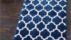 Dark Blue Rug Runner Dark Blue 2 7 X 8 Lattice Runner Rug