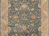 Dark Brown 8×10 area Rug Classic All Over Floral Denim Blue 5×8 Agra oriental area Rug Hand Tufted Carpet
