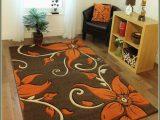 Dark Brown Bathroom Rug Sets Very Nice Floral Brown area Rug with orange Flowers
