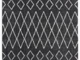 Dark Gray and White area Rug Ilwell Tully Shag Dark Gray area Rug