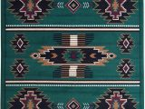 Dark Green area Rug 5×7 Rugs 4 Less Collection southwest Native American Indian area Rug Design In Hunter Dark Green Sw3 5 X7