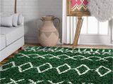 "Dark Green area Rug 5×7 Well Woven Olivia soft Plush Moroccan Shag 5×7 5 3"" X 7 3"" area Rug Green"