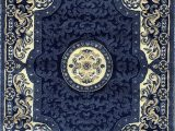 Dark Navy Blue area Rug Traditional Persian oriental area Rug Dark Navy Blue Beige Carpet King Design 101 8 Feet X 10 Feet 6 Inch