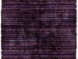 Dark Purple Bath Rugs Contemporary Shag Rugs Savona Flokati Polyster