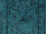 """Dark Teal area Rug 5×7 oriental Weavers Revival 550h area Rug 5 3 X 7 6"""""""""""