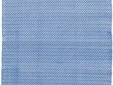 Dash and Albert Blue Rug Herringbone French Blue White Indoor Outdoor Rug