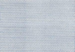 Dash and Albert Blue Rug Herringbone Swedish Blue Woven Cotton Rug Dash Albert