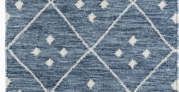 Dash and Albert Blue Rug Kota Geometric Handmade Kilim Blue White area Rug