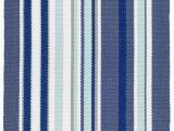Dash and Albert Blue Rug Skyler Striped Handmade Flatweave Blue White Indoor Outdoor area Rug