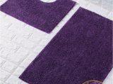 Deep Purple Bathroom Rugs Goldstar Purple Shiny Sparkling 2 Piece Bath Mat and