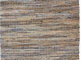Denim and Jute area Rug Anji Mountain Jute and Recycled Denim American Graffiti Rugs