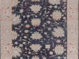 Dense Peony Tree Of Life area Rug Turkish Ve Able Dye French toile area Rug oriental Hand Made Blue 9 X 12 Ft
