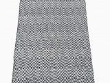 Diamond Handloom Bath Rug Carpet Master Diamond Navy White Polyester Handwoven Indoor Outdoor Fully Reversible Rug Navy 4×6 Feet