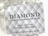 Diamond Handloom Bath Rug Diamond Handloom Bath Rug Cotton In White 24 In X 40 In