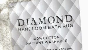 Diamond Handloom Bath Rug Diamond Handloom Bath Rug Cotton In White 24 In X 40 In