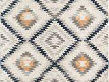 Diamond Motif Zen Light Gray area Rug Golden Girl Power Loom Ivory Rug