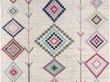 Diamond Motif Zen Light Gray area Rug Rugs America Bodrum Rug