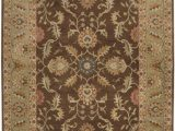Diva at Home area Rugs 9 X 12 Vespasian Brown and Caper Green Hand Tufted Wool