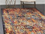 Does Menards Have area Rugs Unique Loom Rosso Collection Vintage Traditional Distressed orange area Rug 8 0 X 10 0