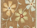 Does Ross Have area Rugs Ross Floral Handmade Hooked Wool Camel area Rug