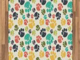 Dog Paw Print area Rugs Amazon Ambesonne Dog Lover area Rug Hand Drawn Paw