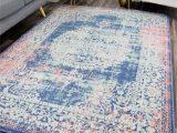 Doylestown Blue area Rug Reva Transitional Rosee Blue Indoor Outdoor area Rug