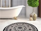 Eco Friendly Bath Rugs Black & White Red Blue Brown Mandala Round Home Decor