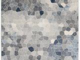 Elara Blue Gray area Rug Capodanno Geometric Navy Gray area Rug