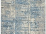 Elara Blue Gray area Rug Lyndsey Abstract Gray Blue area Rug