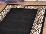 Extra Large area Rugs Amazon Animal Leopard Print area Rugs now In 7 Sizes Cheap Small Extra Runner soft Safari Leopard Border Frame Black Mats Rug 120x170cm