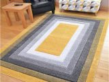 Extra Large area Rugs Amazon New Hand Carved Ochre Gold Grey Mustard Black Silver Small Extra Size House Rugs Ochre Gold Border 60cm X 110cm