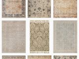 Farmhouse area Rugs for Living Room Vintage Inspired area Rugs
