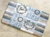 Farmhouse Style Bathroom Rugs Memory Foam Rug Cotton Boll Country Farmhouse Bathroom