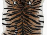 Faux Animal Skin area Rugs Amazon Tiger Print Rug 7 2 X5 7 Faux Cowhide Skin Fur