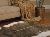 Faux Animal Skin area Rugs Clearance Cabin Country Faux Cow Hide Rug Cowhide Floor Rug Mat 152x198cm Tan