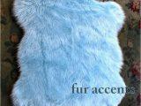 Faux Fur Navy Blue Rug 30 X 50 Faux Fur Rug Baby Sky Light Blue Sheepskin area