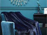 Faux Fur Navy Blue Rug Evelyne Prelonge Navy Blue Faux Fur Throw