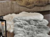 Faux Fur Navy Blue Rug One Must Have to Hygge Up Your Home is soft Cosy Textures
