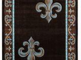 Fleur De Lis Rugs Bed Bath and Beyond Blanken Black Brown Teal Rug