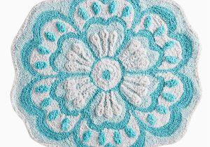 Flower Shaped Bath Rug Flower Shaped Turquoise Bath Rug Pier1 Imports