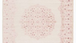 Fontanne Pink White area Rug 5×7 Bungalow Rose Fontanne oriental Pink White area Rug
