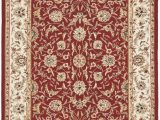 Frederick Hand Hooked Wool Blush area Rug Burgundy and Ivory 4ft 6in X 6ft 6in Oval