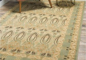 French Country Wool area Rugs Unique Loom Edinburgh Collection oriental Traditional French Country Light Green area Rug 12 2 X 16 0