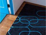Ghislaine Blue Geometric area Rug Contemporary Space with Futuristic Feel
