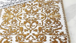 Gold and White Bathroom Rugs Pin On Ideas for the House