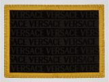 Gold Bath Rug Set Versace Logo Bath Mat